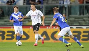 Massimiliano Gatto contro il Brescia (Foto Ivan Benedetto)