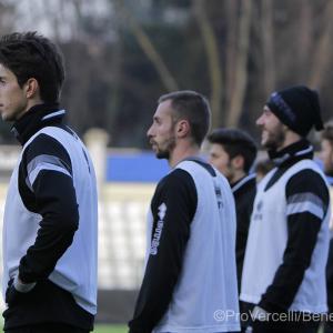I giocatori all'allenamento (Foto Ivan Benedetto)