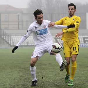 Il giovane Giovaniditti in un'immagine di Pro Vercelli-Modena del campionato Primavera (Foto Ivan Benedetto)