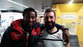 Kelvin Matute e Gianni Fabiano a Fiumicino (Foto MagicaPRO.it)