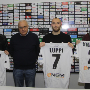 Hromada, il ds Varini, Luppi e D'Alessandro