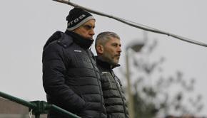 Mister Scazzola e il ds Varini (Foto Ivan Benedetto)