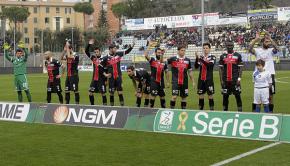 La Pro Vercelli a Frosinone (Foto Ivan Benedetto)