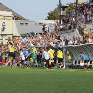 Il fischio finale di Pro Vercelli-SudTirol del 7 giugno 2014 (Foto Ivan Benedetto)