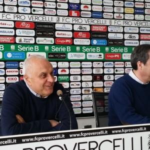 Il ds Massimo Varini e il presidente Secondo in conferenza (Foto MagicaPRO.it)