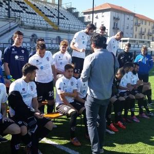 Backstage della nuova foto di squadra (Foto MagicaPRO.it)