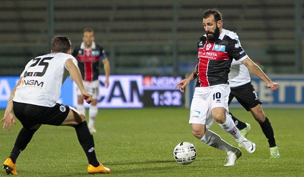 Gianni Fabiano contro lo Spezia (Foto Ivan Benedetto)
