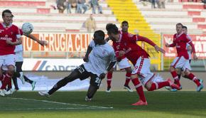 La rete di Mohamed Coly a Perugia (Foto Ivan Benedetto)