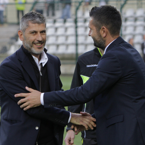 Cristiano Scazzola e Nenad Bjelica (Foto Ivan Benedetto)