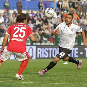 Daniele Ragatzu contro il Perugia (Foto Ivan Benedetto)