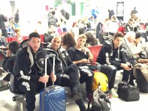 Viotti, Ferri, Ronaldo e Castiglia in aeroporto