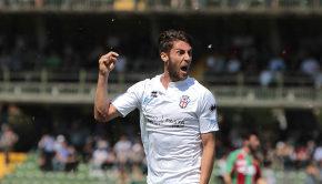 Manuel Scavone dopo il gol alla Ternana (Foto Ivan Benedetto)