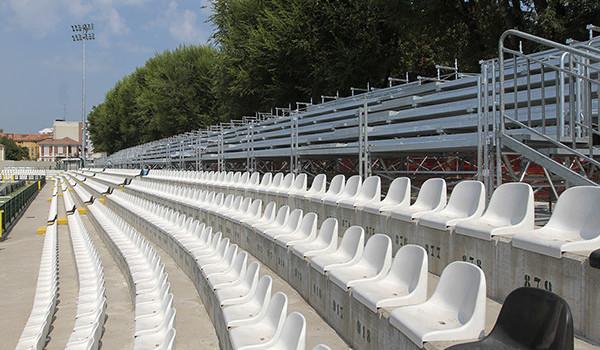 Lavori in corso allo stadio Piola (Foto Ivan Benedetto)