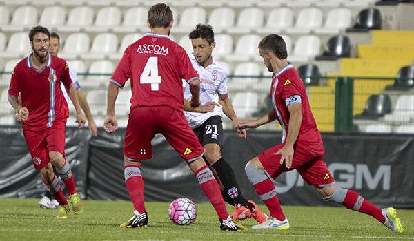 Luca Castiglia contro l'Alessandria (Foto Ivan Benedetto)