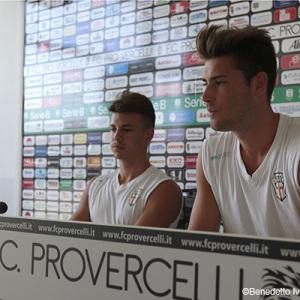 Melgrati e Gatto in conferenza (Foto Ivan Benedetto)