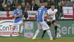 Mattia Sprocati contro il Novara (Foto Ivan Benedetto)