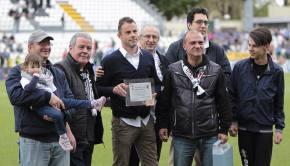 """Scaglia premiato dal Club """"Amedeo Rosa"""" (Foto Ivan Benedetto)"""
