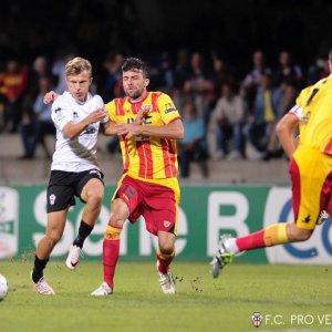 Benevento-Pro Vercelli 1-1, foto Ivan Benedetto.