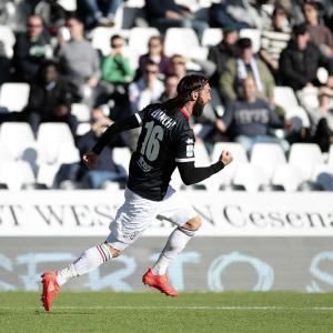 Bianchi esulta per il gol al Cesena (Foto Ivan Benedetto)