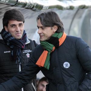 Gianluca Grassadonia e Filippo Inzaghi (Foto Ivan Benedetto)