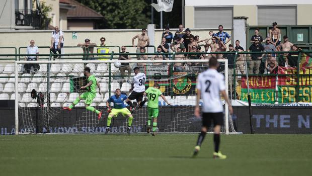 Il gol di Germano alla Ternana (Foto Ivan Benedetto)